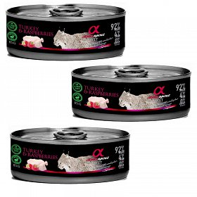 Alpha Spirit Cat Turkey with raspberries Mokra karma z indykiem i malinami 18x85g PAKIET