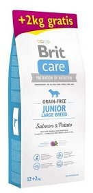 Brit Care Grain-Free Junior Large Salmon & Potato Sucha Karma z łososiem 12kg+2kg GRATIS