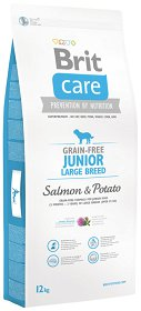 Brit Care Grain-Free Junior Large Salmon&Potato Sucha Karma z łososiem 12kg